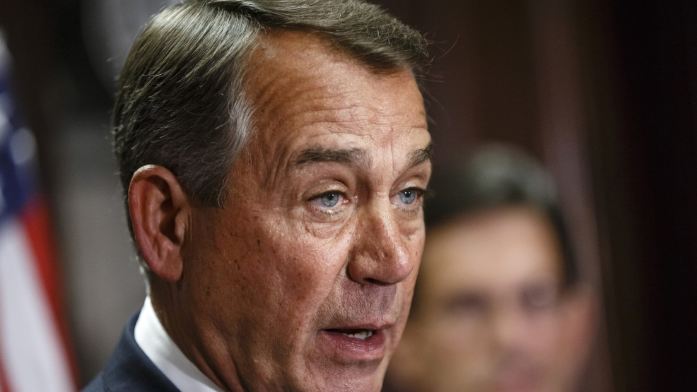 This April 29, 2014 file photo shows House Speaker John Boehner of Ohio speaking on Capitol Hill in Washington. (AP Photo, File)