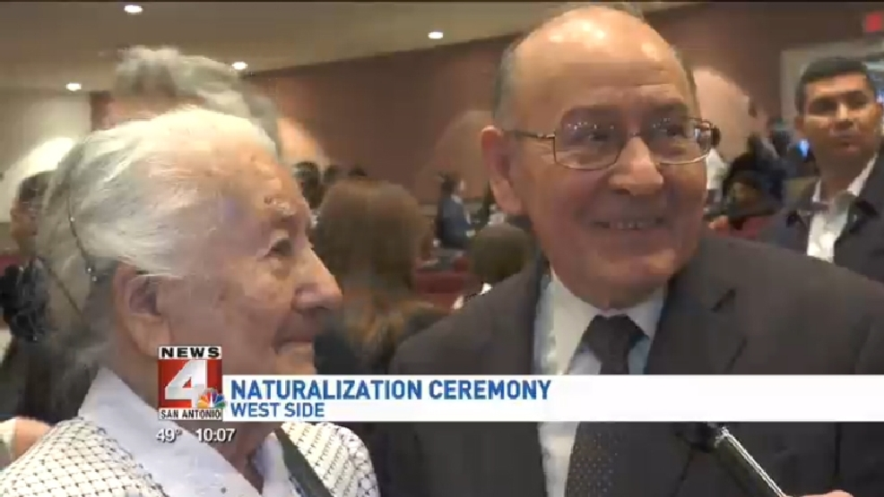 A-96-year old woman becomes a U S  citizen | WOAI