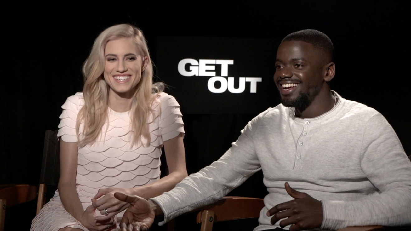 "Allison Williams and Daniel Kaluuya chat with KOMO's Scott Carty in Beverly Hills, as Kaluuya discusses the role of race in ""Get Out."""
