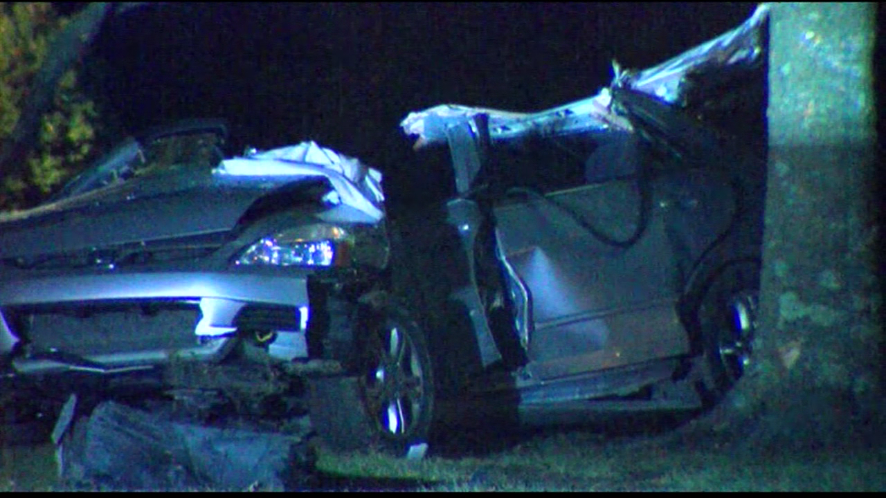 A man was rushed to the hospital after a single-car crash in Miami Township early Wednesday morning. (WKRC)