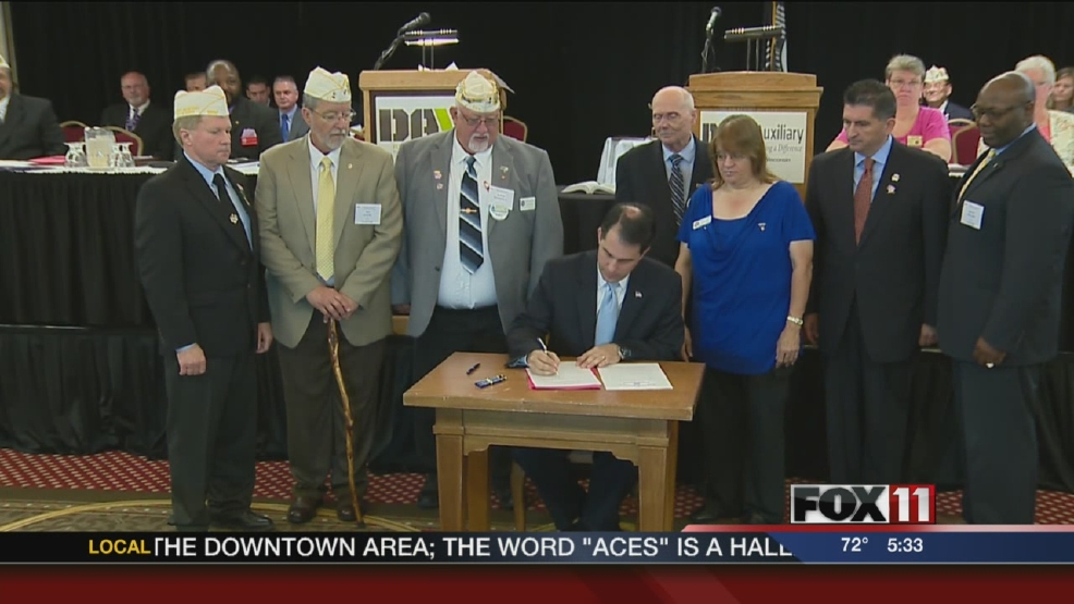 Gov. Walker signs off on employment efforts aimed at hiring veterans