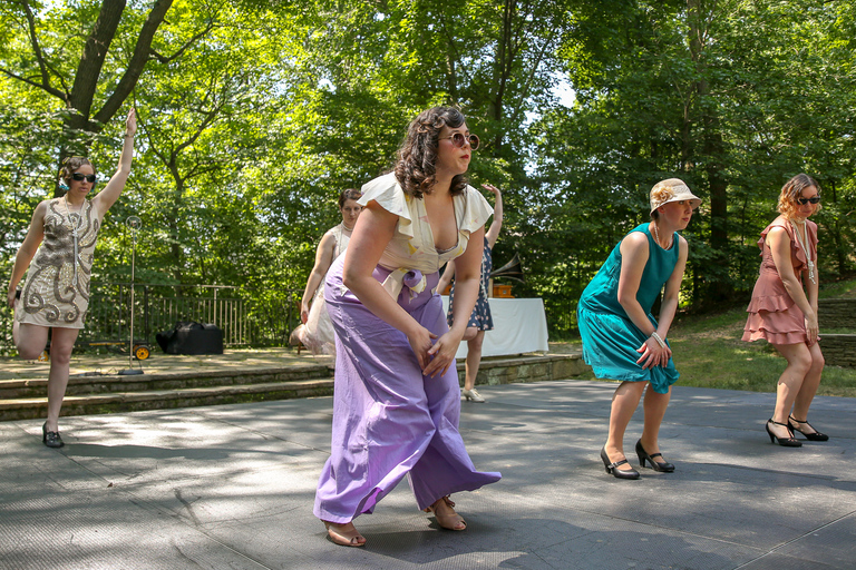 At the Great Gatsby lawn party, we spotted these wide-legged pants. Are the 20s making a comeback?? (Amanda Andrade-Rhoades/DC Refined)