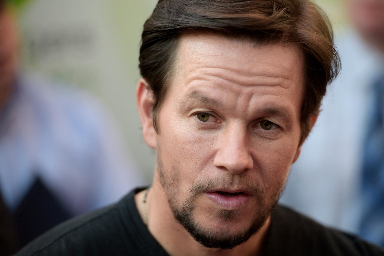 Actor Mark Wahlberg gives an interview during a VIP event at Wahlburgers Las Vegas in the Grand Bazaar Shops at Bally's Tuesday, March 28, 2017. [Sam Morris/Las Vegas News Bureau]