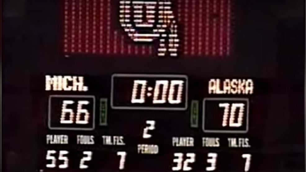 UAA-Upset-Michigan-Scoreboard