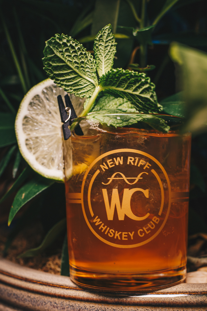 Ginger Beer Mule: New Riff Bourbon, black strap bitters, ginger beer elixir, and garnished with a lime wheel and fresh mint / Image: Catherine Viox // Published: 3.25.19
