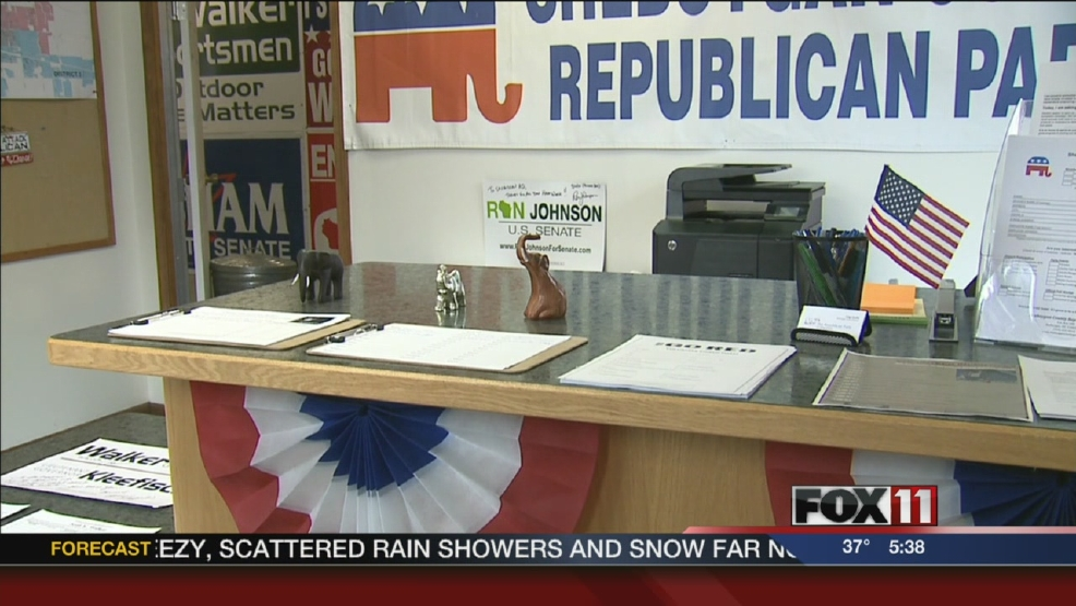 Republican office vandalized in Sheboygan