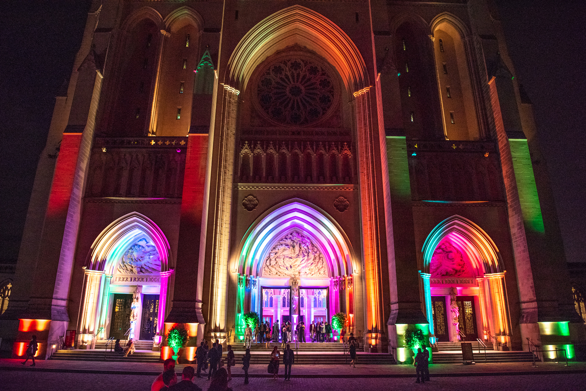"Anyone who attended the Human Rights Campaign's 7th annual Chefs for Equality gala on October 9 and left hungry did something wrong! The Washington National Cathedral was awash in rainbow as it played host to hundreds of Washingtonians eager to show their support for the HRC Foundation and their mission of fighting for full LGBTQ equality. And show their support they did, as the event raised{ } more than$300,000 for the foundation, through ticket sales, a silent auction and a live auction. More than 120 of the DMV's top chefs and mixologists were on hand to do the ""deliciously defiant"" theme proud, serving up small bites (like foie gras macaroons and dan dan noodles in mini carryout containers) and cocktails to guests. The luckiest guests dined at private tables,{ }where celebrity chefs created lavish five-course paired meals. Back by popular demand, the ""5/10/15 Speed Diner"" ticket option allowed guests to purchase a seat at the intimate diner-style counters where they were treated to a specialty cocktail and a mini five-course tasting menu prepared by five pairs of renowned chefs. If you missed the fun, scroll through our photo gallery to get an insider's look! (Image:{ }Jeff Martin for Human Rights Campaign)"