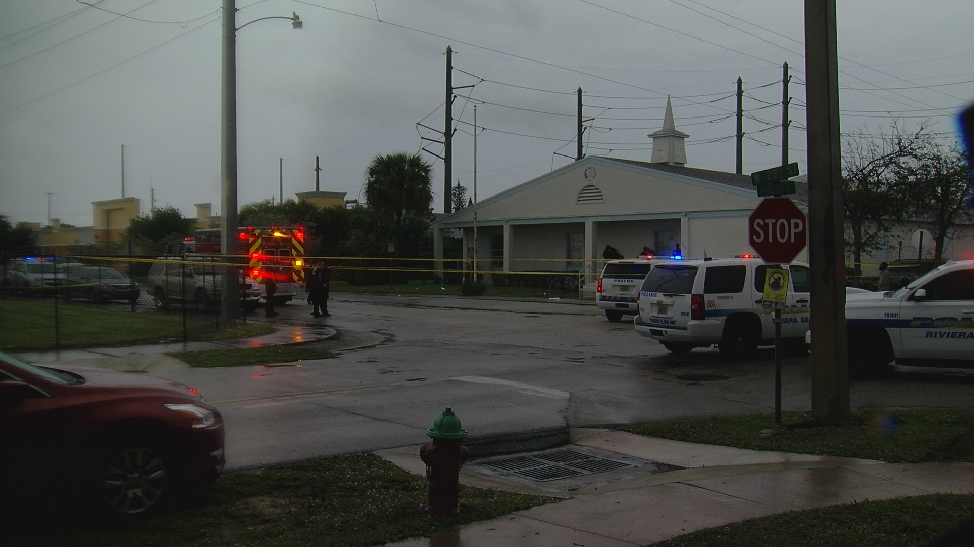 Shooting at a funeral in Riviera  Beach leaves two people dead on Feb. 1, 2020. (WPEC)