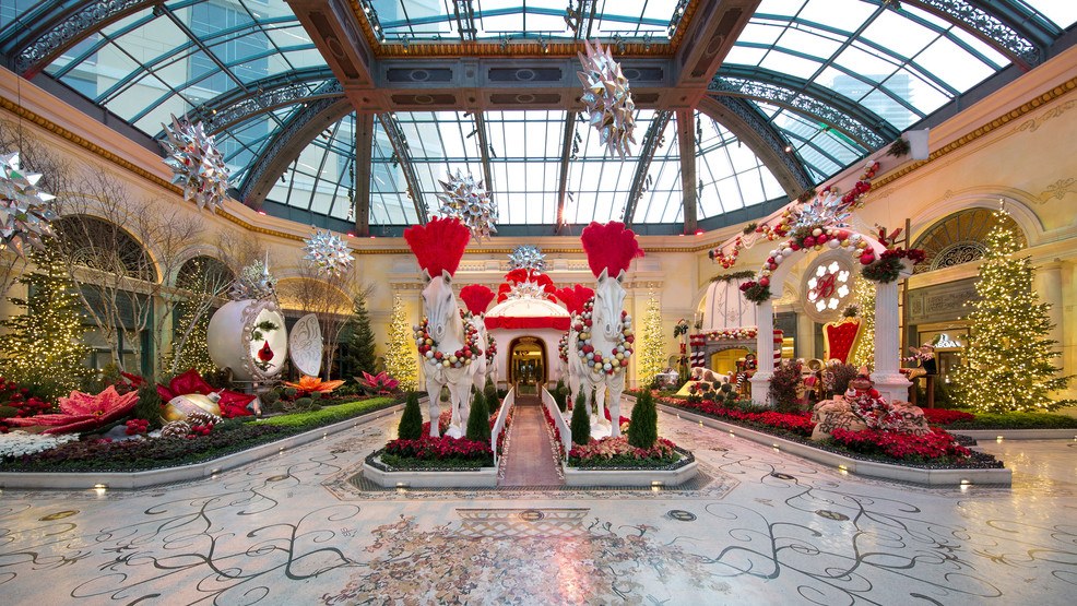 Bellagio opens its 2020 holiday conservatory display