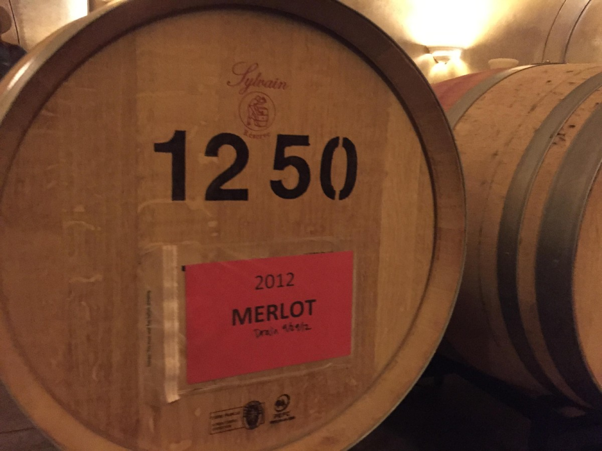 Garrison Creek Cellars' 2012 Merlot agin in barrel, eyeing its 2016 release. (Image: Frank Guanco)