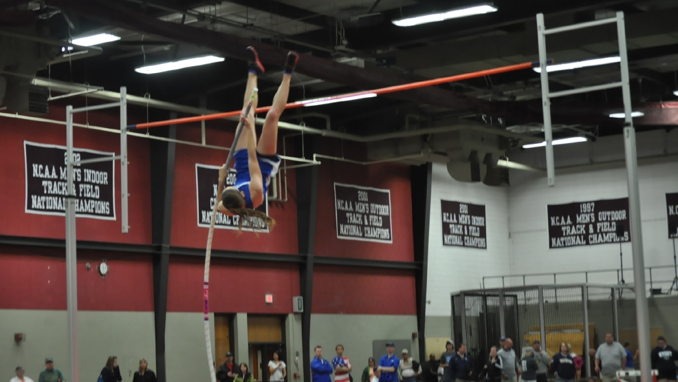 Wrightstown's Bonnie Draxler set the state record in the pole vault with a record height of 13-3 at the state track and field meet in June. (Doug Ritchay/WLUK)