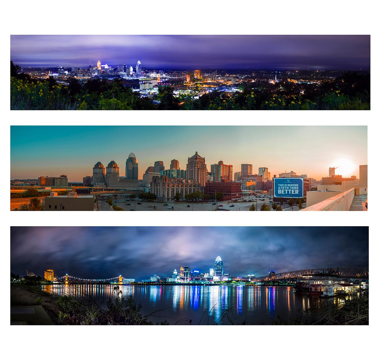 Panoramic photos of Cincinnati by Chris Ashwell from 2018. View the whole image by going to the Public Library downtown and seeing the Panorama of Progress exhibit. The exhibit runs until October 31. ADDRESS: 800 Vine Street (45202) / Image courtesy of the Public Library of Cincinnati // Published: 10.4.18
