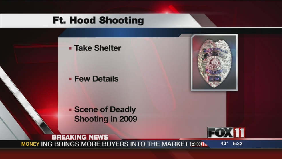Authorities: Fort Hood reports active shooter