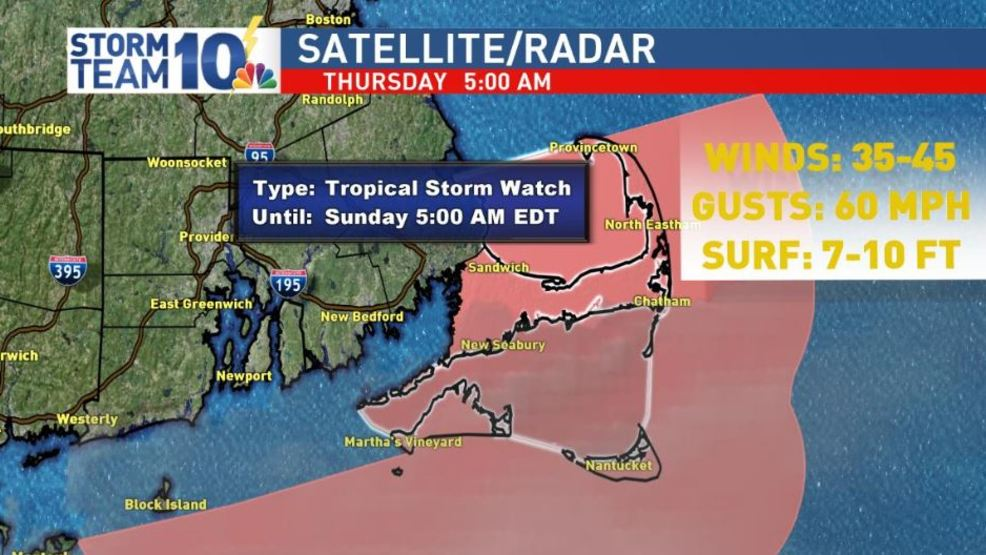 Cape Cod under tropical storm watch ahead of Dorian's effects