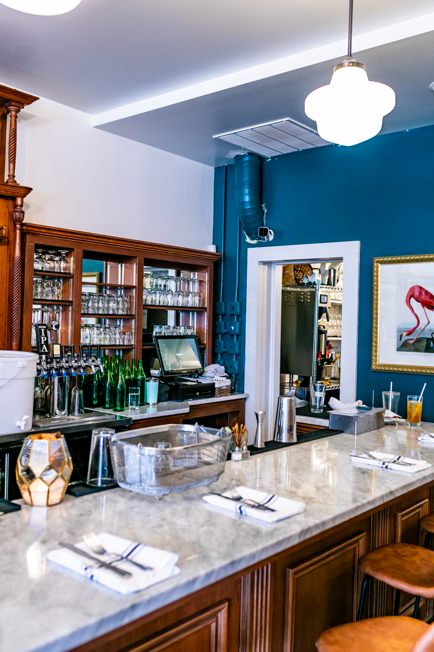 The Baker's Table is a warm, inviting brunch and bar spot that is full of character. Co-owner Wendy Braun wanted to make the space community-focused by providing a variety of areas that includes a comfy coffee lounge, a vintage bar with specialty cocktails, a rustic dining area with locally sourced dishes, and a separate space for patrons to hang out or host get-togethers. / Image: Amy Elisabeth Spasoff // Published: 3.14.19