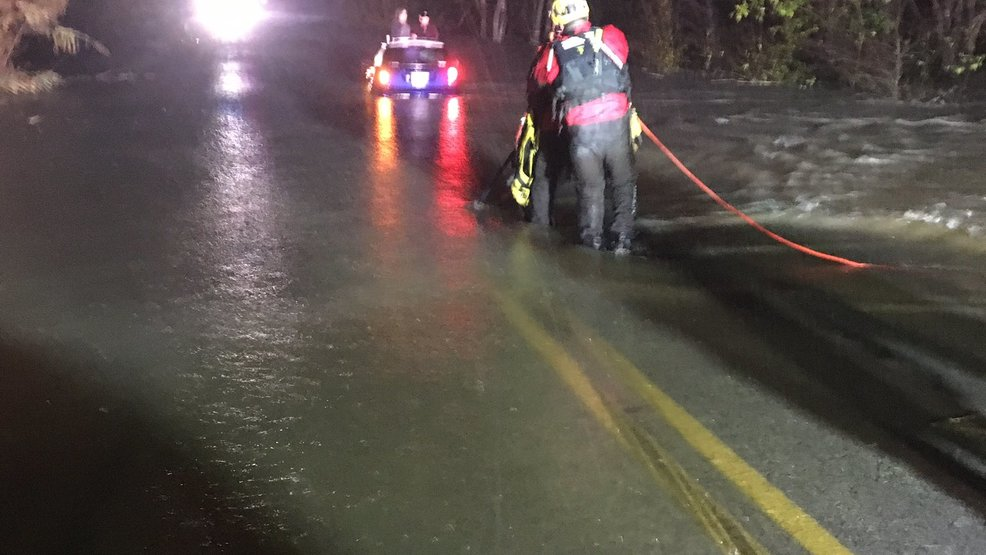 Travis County EMS rescues two victims from car caught in water on Friday night