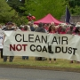 Opponents of Port of Longview coal terminal rally outside public hearing
