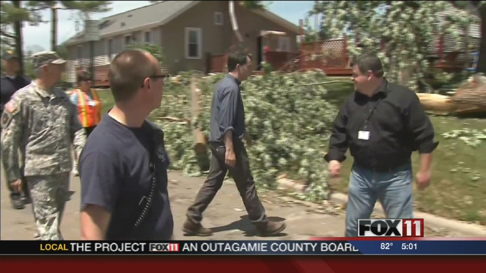 Gov. Walker tours storm damage