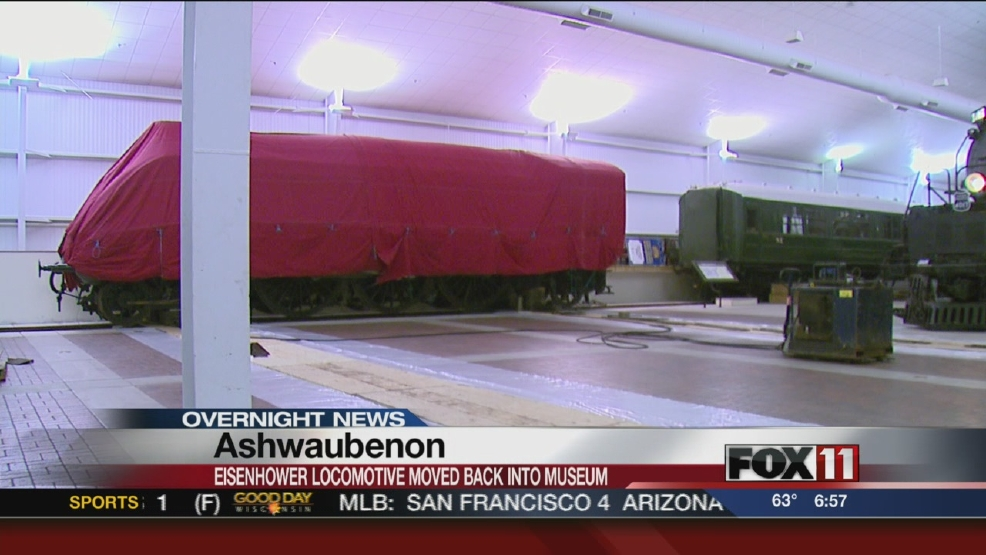 The Eisenhower steam engine is being moved back into the National Railroad Museum in Ashwaubenon.