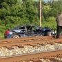 1 person injured after collision with commuter train in Maryland, service suspended