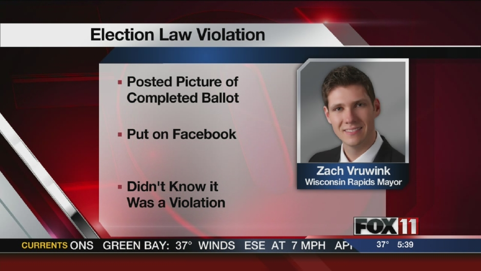 Wisconsin mayor faces possible felony for ballot photo