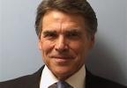 This image provided by the Austin Police Department shows Texas Gov. Rick Perry while being booked at the Blackwell-Thurman Criminal Justice Center in Austin, Texas, for two felony indictments of abuse of power on Tuesday, Aug. 19, 2014, in Austin, Texas. (AP Photo/Austin Police Department)