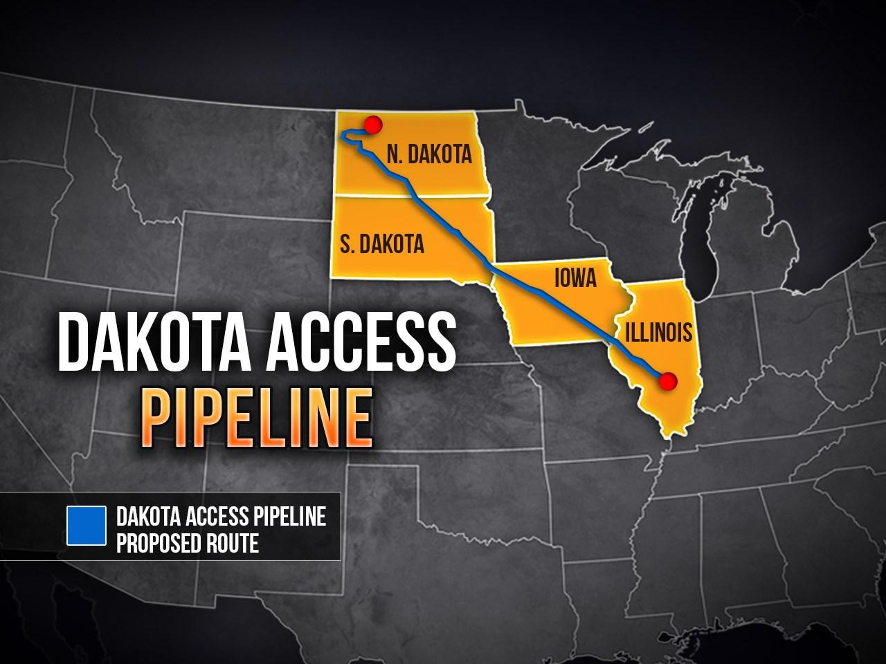 A map of the proposed route of  the Dakota Access Pipeline (MGN)<p></p>