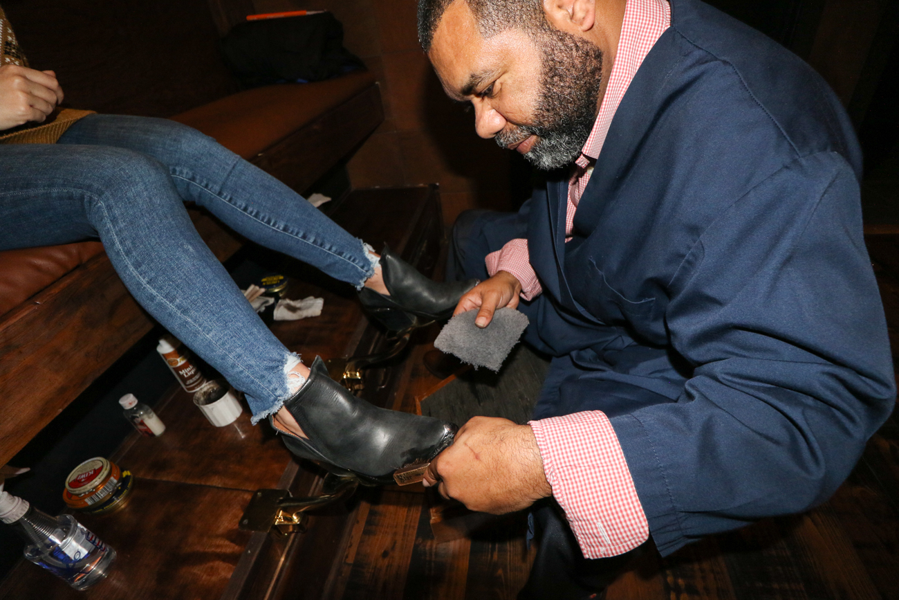 The bar offers patrons complimentary shoe shines on Wednesdays between 4 and 7 PM. / Image: Ronny Salerno // Published: 1.2.19