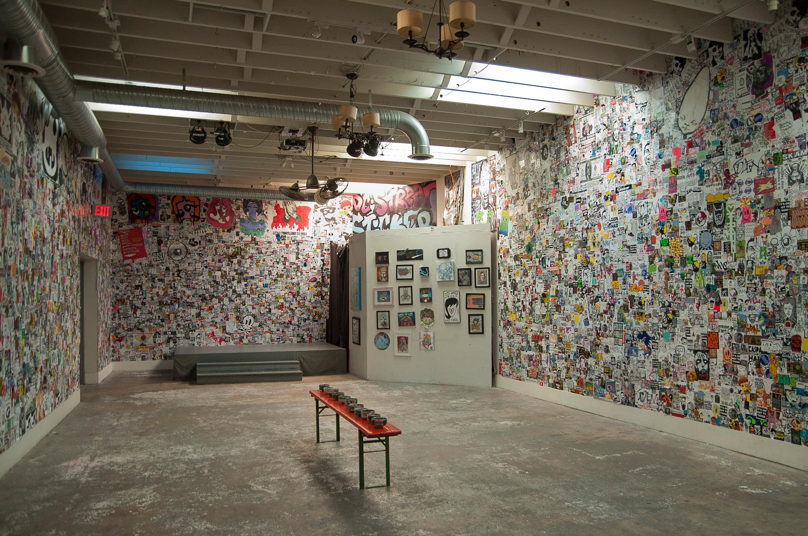 { }Once he had the idea to fill an entire gallery with stickers, it took about 12-18 months to convince Alex Goldstein, the owner of The Fridge, to give him a chance. (Image: Nikkia Redd Photography)