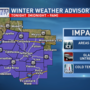 Winter Weather Advisory for freezing drizzle Friday night