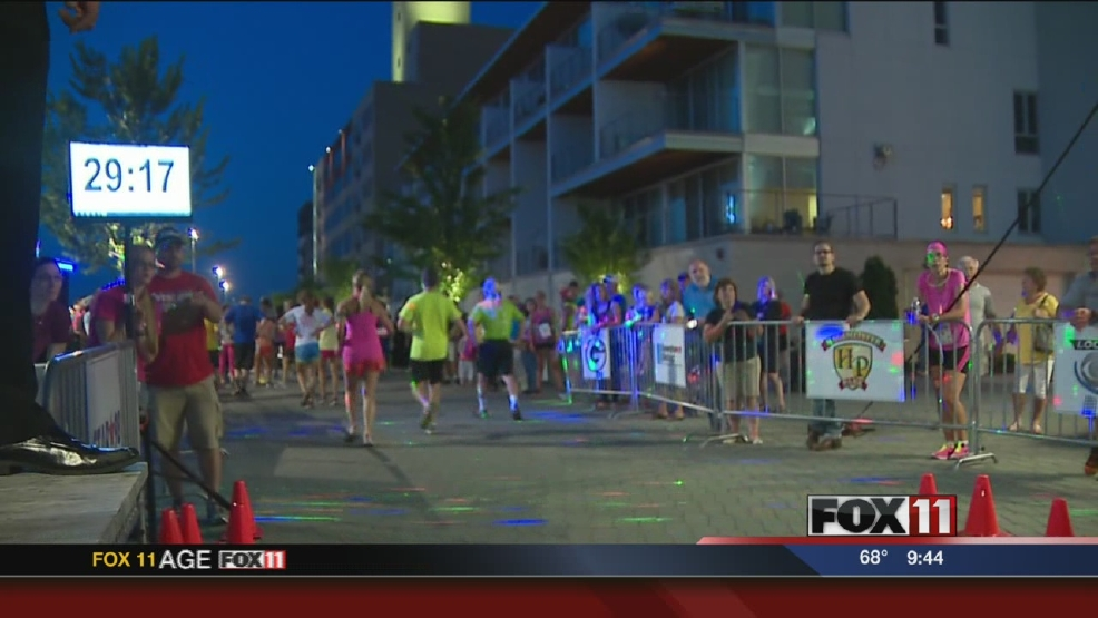 Runners and walkers hit the streets for a 5K Nitelite Run.