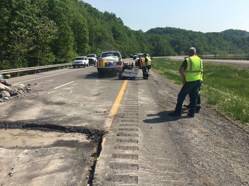 The West Virginia Department of Highways expects repairs to be completed by Wednesday morning. (WCHS/WVAH)