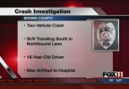 Crash on US 41 leads to OWI arrest, 3 injured