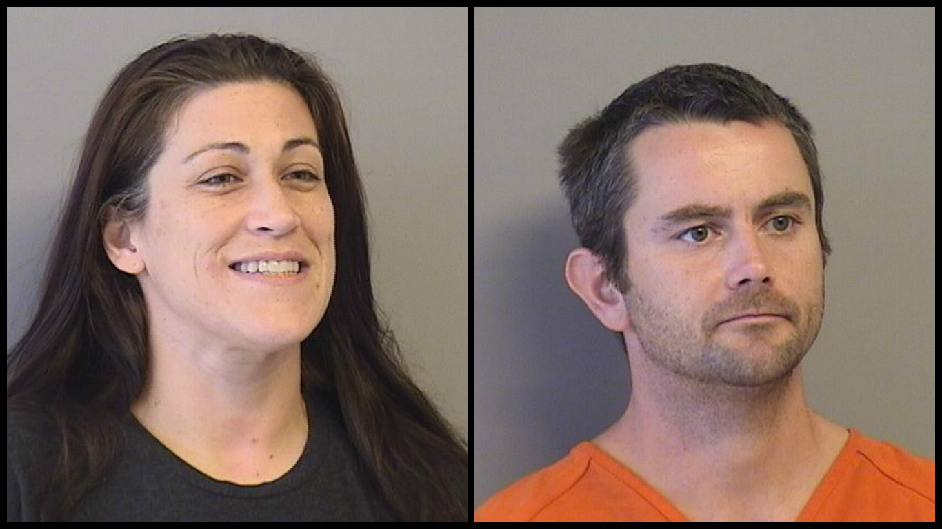 Sandra Yeahquo and George Jude were arrested August 9 in Tulsa in connection to the pepper spraying of a woman at a Kentucky Walmart. (Tulsa County Jail)