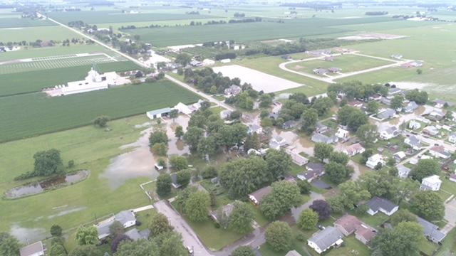 Flooding in Arcanum (WKEF/WRGT)