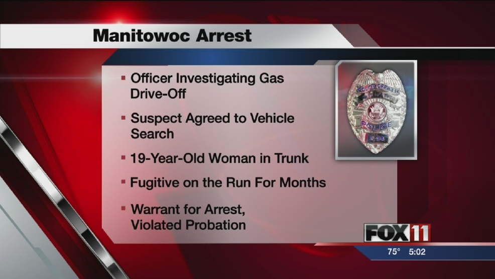 Officer scores bonus arrest in gas drive-off
