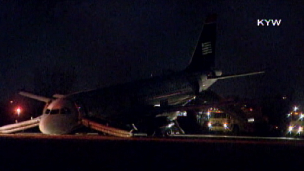 Airline officials said USAirways Flight 1702 was heading to Fort Lauderdale, Fla., when the pilot was forced to abort takeoff on Thursday, March 13, 2014.