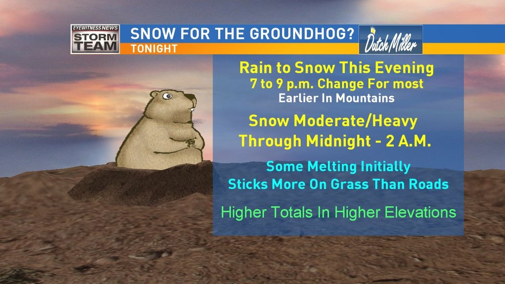 Snow/Cold Return Ahead Of The Groundhog's Forecast