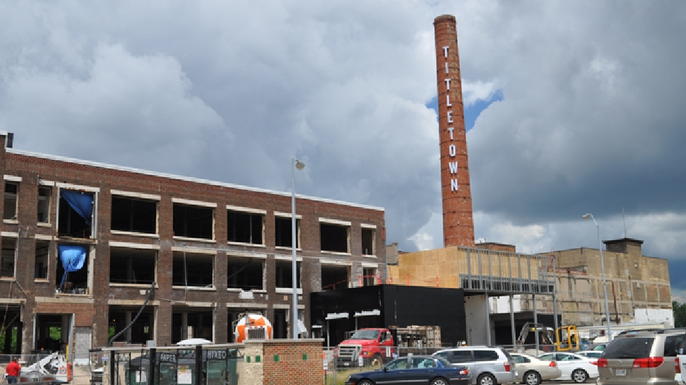 A construction project at Titletown Brewing Co. in Green Bay is in progress, July 8, 2014. (WLUK/Ann Jarzynski)