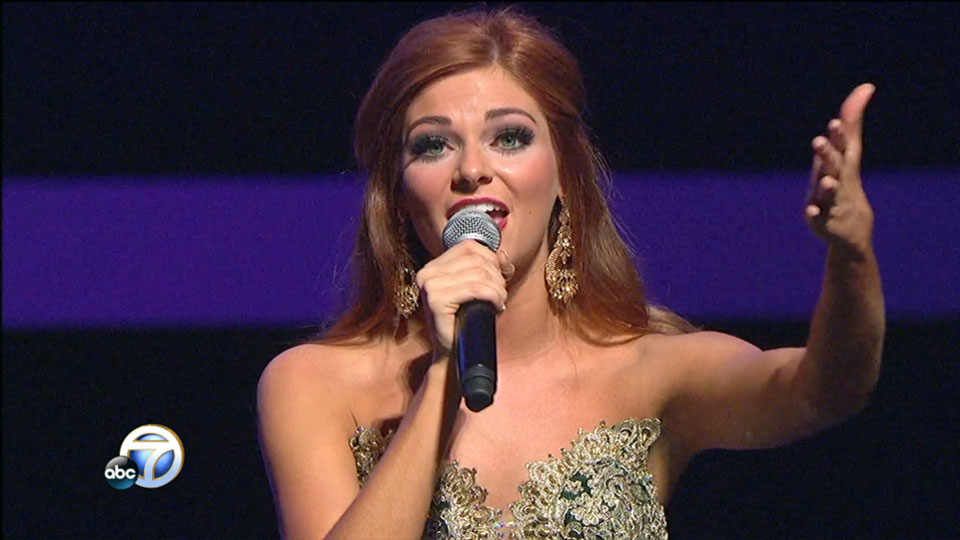 Miss Arkansas talent portion: Darynne Dahlem Singing (KATV photo)