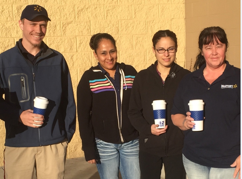 Mugshot Mondays: This week's winner are the employees at the Walmart on Overland in Boise! Kelsey Anderson & Bryan Levin helped deliver free Dutch Bros. Coffee and KBOI mugs! Want your business to be next? Enter HERE: http://bit.ly/1UoKo3X