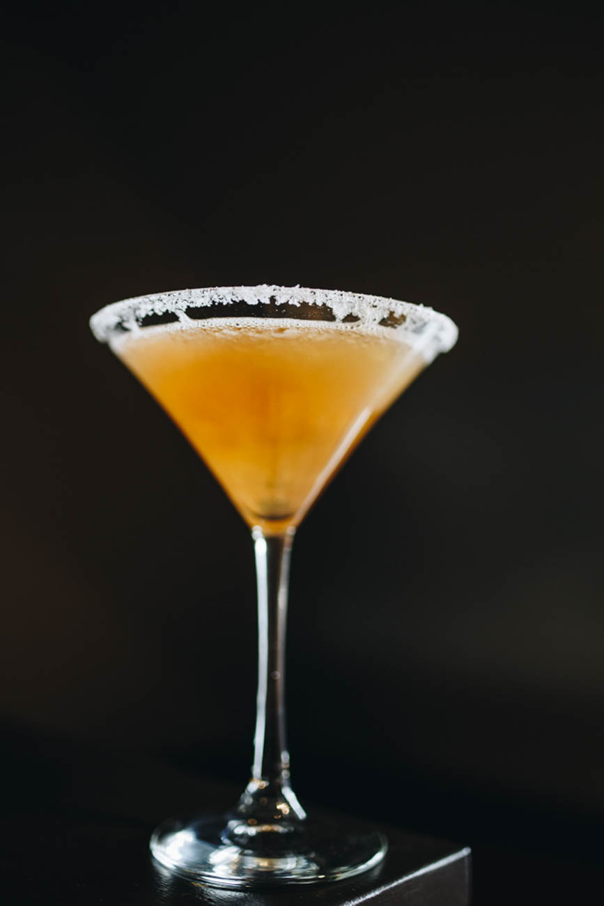 Bourbon Fizz Martini / Image: Catherine Viox // Published: 1.14.19