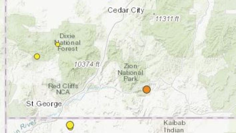 3.0 magnitude earthquake rumbles near Zion National Park