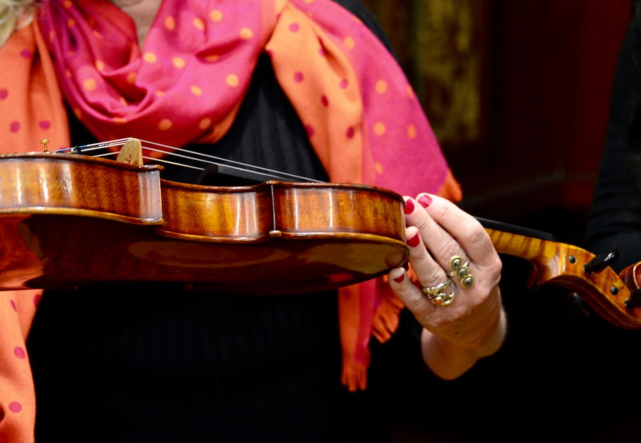 On Tuesday, January 23, eight violins saved from the Holocaust will be played by local musicians in a concert at Music Hall. / Image: Leah Zipperstein, Cincinnati Refined // Published: 1.21.18