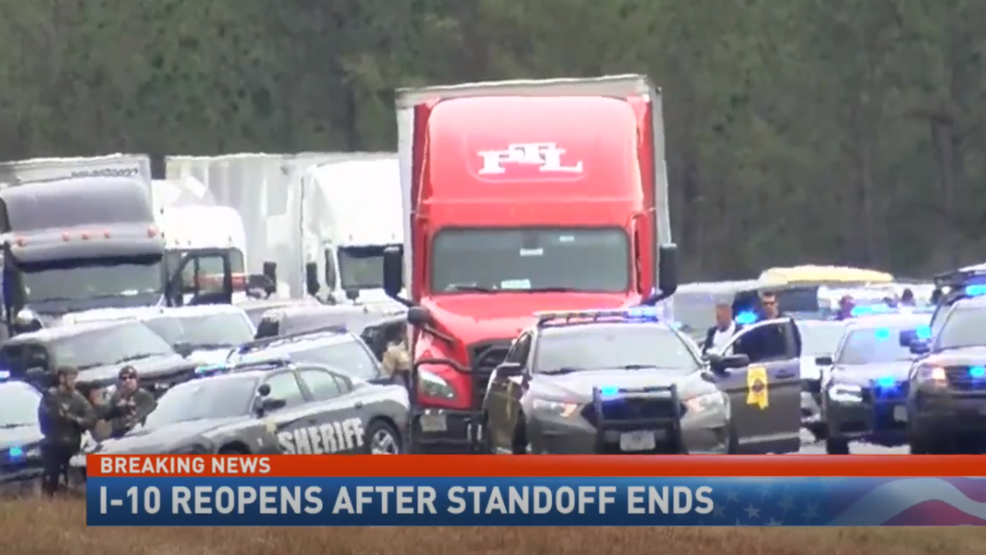 Chase that began in Mobile leads to I-10 shutdown, trucker