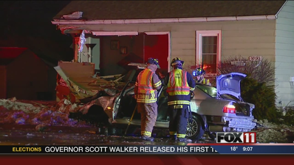 car crash in home