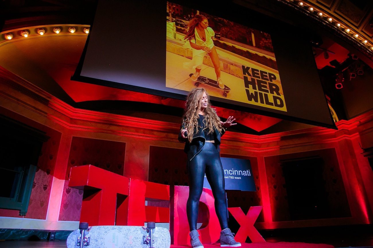 What started in an empty parking lot in 2018 and was later shared at a TEDx Talk at Memorial Hall in 2019 has transformed into KEEP Her Wild, a female skate collective. Founder Megs Gelfgot, who's originally from Tuscon, Arizona, landed in Cincinnati by way of her husband in 2011. Her CV includes law enforcement, fitness trainer, digital content creator, wife, mom, dog mom, and ollie executor. / Image courtesy of KEEP Her Wild // Published: 3.3.21{&nbsp;}<p></p>