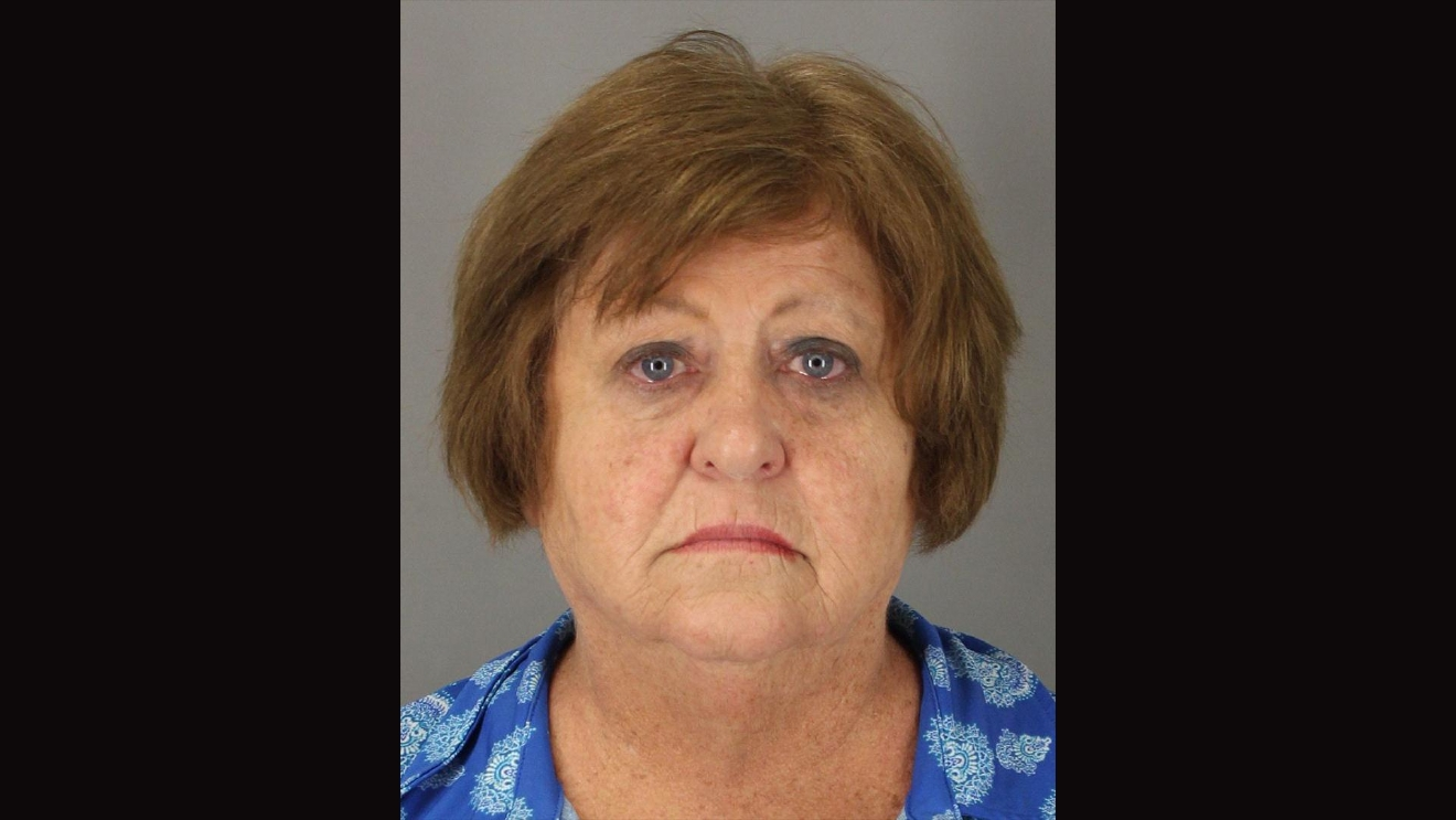 Mary A. Hastings, a 63-year-old teacher at Ozen High School, was arrested for assault after video surfaced of her hititng a student in her math class (Courtesy Jefferson County)