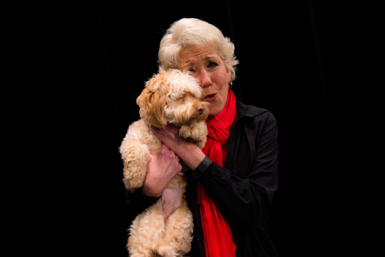 Cocoa, with Cammy Dierking (at the Local 12 studios during a recent visit from SPCA adoptable pets) / Image: McKenzie Graham/ Image: McKenzie Graham