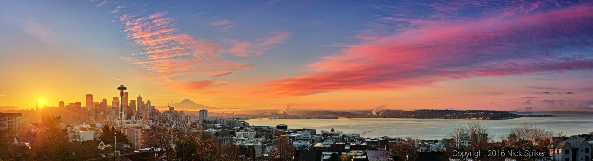 """Seattle Sunrise"" (Image: Nick Spiker)"
